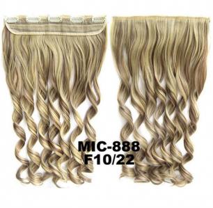 Искусственные термостойкие волосы на заколках на трессе волнистые №F10/22 (55 см) - 1 тресса, 100 гр.