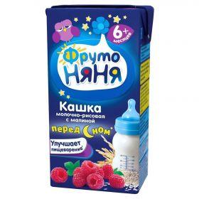 Кашка ФрутоНяня рисовая с малиной молочная 0,2л