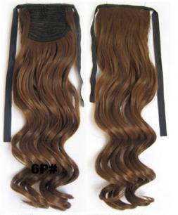 Искусственные термостойкие волосы - хвост волнистые №006P (55 см) -  80 гр.