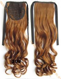 Искусственные термостойкие волосы - хвост волнистые №030 (55 см) -  80 гр.