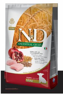 N&D Low Grain CHICKEN & POMEGRANTE Puppy mini (курица+гранат для щенков мелких пород)