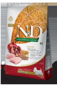 N&D Low Grain LIGHT CHICKEN & POMEGRANATE Adult Mini (Курица+гранат ля собак с лишним весом мелких и карликовых пород)