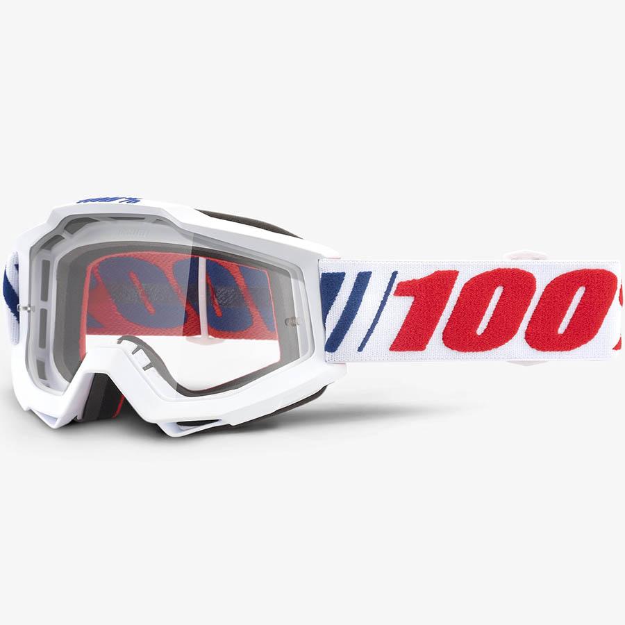 100% Accuri AF066 Clear Lens, очки для мотокросса