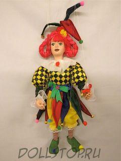 Кукла-марионетка  Каспаречка (KAŠPAŘICE, Чехия, Praha, Hand Made, авторы  Ивета и Павел Новотные)