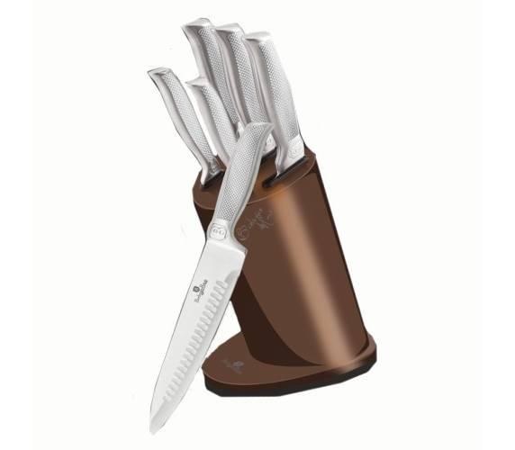 BH-2272 Набор кухонных ножей на подставке 6 пр.