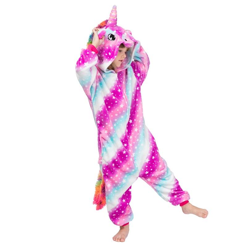 Детская Пижама Кигуруми Единорог Звездно-Радужный