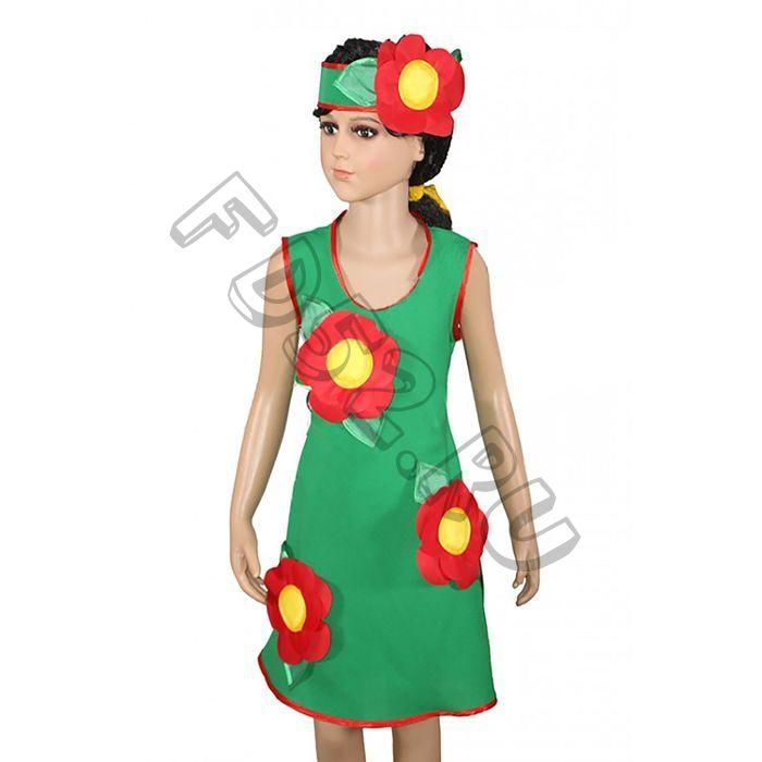"""Платье для танцев """"Красные цветы"""" КС309"""