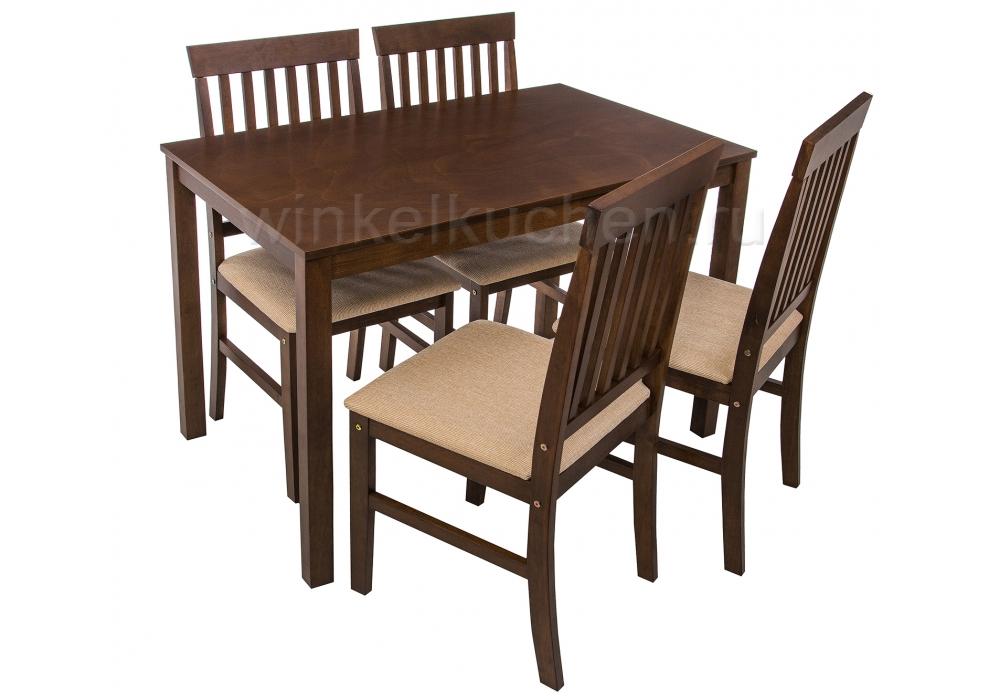 Luar (стол и 4 стула) espresso / cream