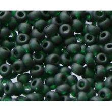 Бисер чешский 50150 прозрачный темно-зеленый матовый Preciosa 1 сорт