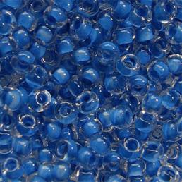 Бисер чешский 38338 прозрачный темно-голубая линия внутри Preciosa 1 сорт