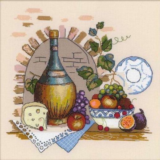 Набор для вышивания крестом Натюрморт с сыром №1303 фирма Риолис