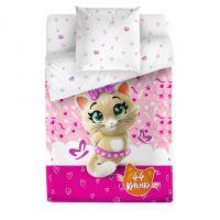 """Детское постельное белье """"Пилу"""", рис.4502-1+4502а-1 (44 котенка), 1.5сп."""