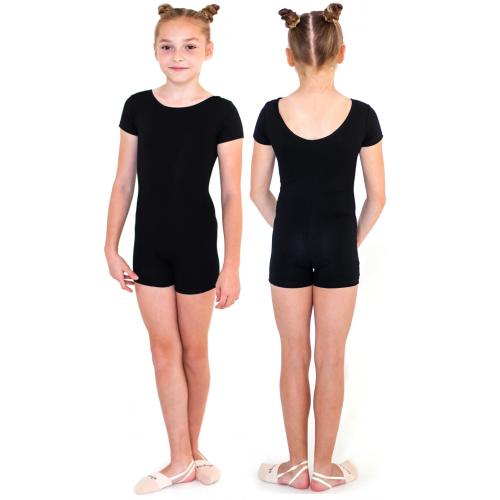 Комбинезон гимнастический короткий рукав INDIGO SM-188 черный