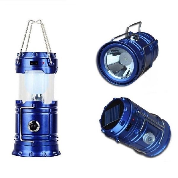 Фонарь кемпинговый складной 12 см (цвет синий)