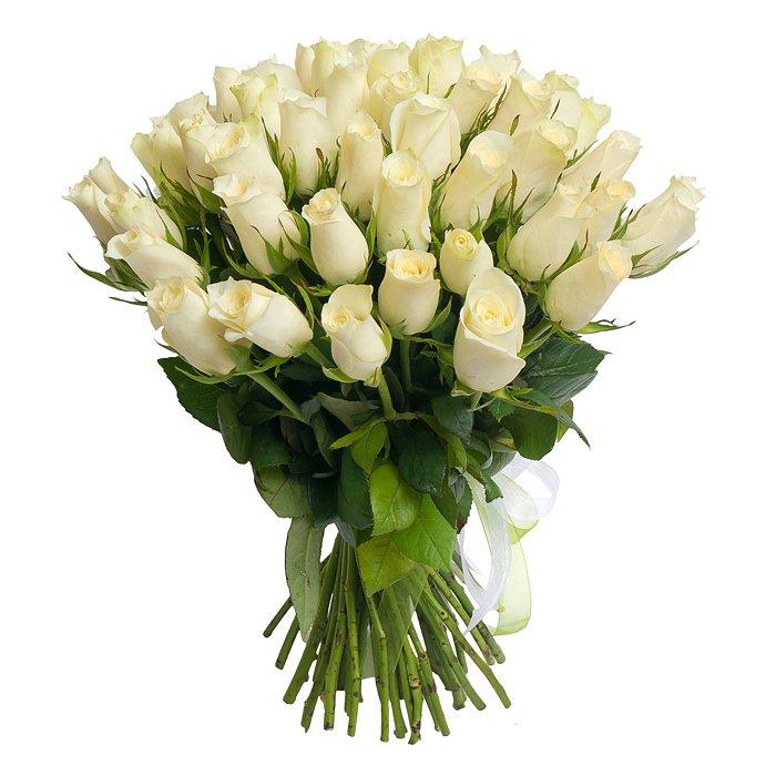 Букет белых роз 40 см