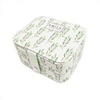Мини шкатулка для ювелирных изделий Smile 11х9х6 см (цвет зелёный)