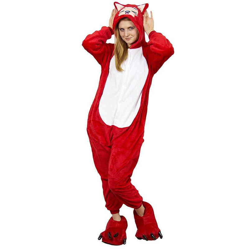 Пижама Кигуруми Лиса Красная