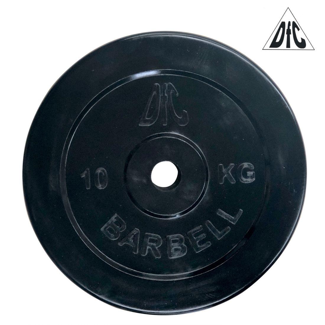Диск обрезиненный DFC, чёрный, 26 мм, 10кг