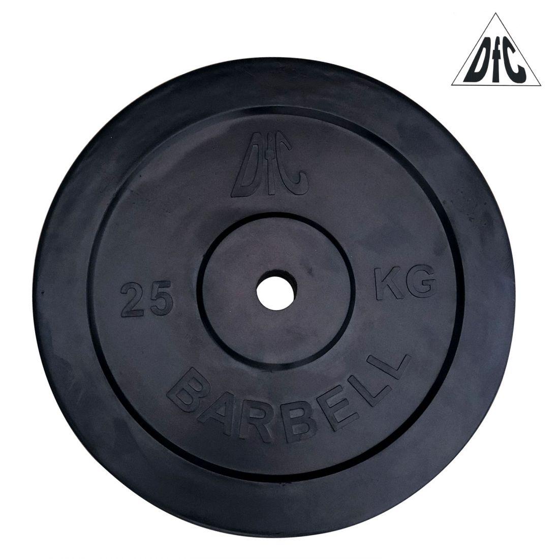 Диск обрезиненный DFC, чёрный, 31 мм, 25 кг