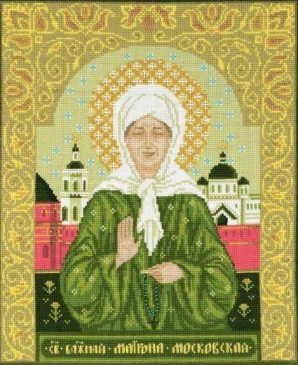 Набор для вышивания крестом Святая блаженная Матрона Московская №1385 фирма Риолис