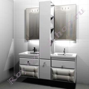 "Тумба для ванной   c двумя раковинами ""Лидс- double 2"""
