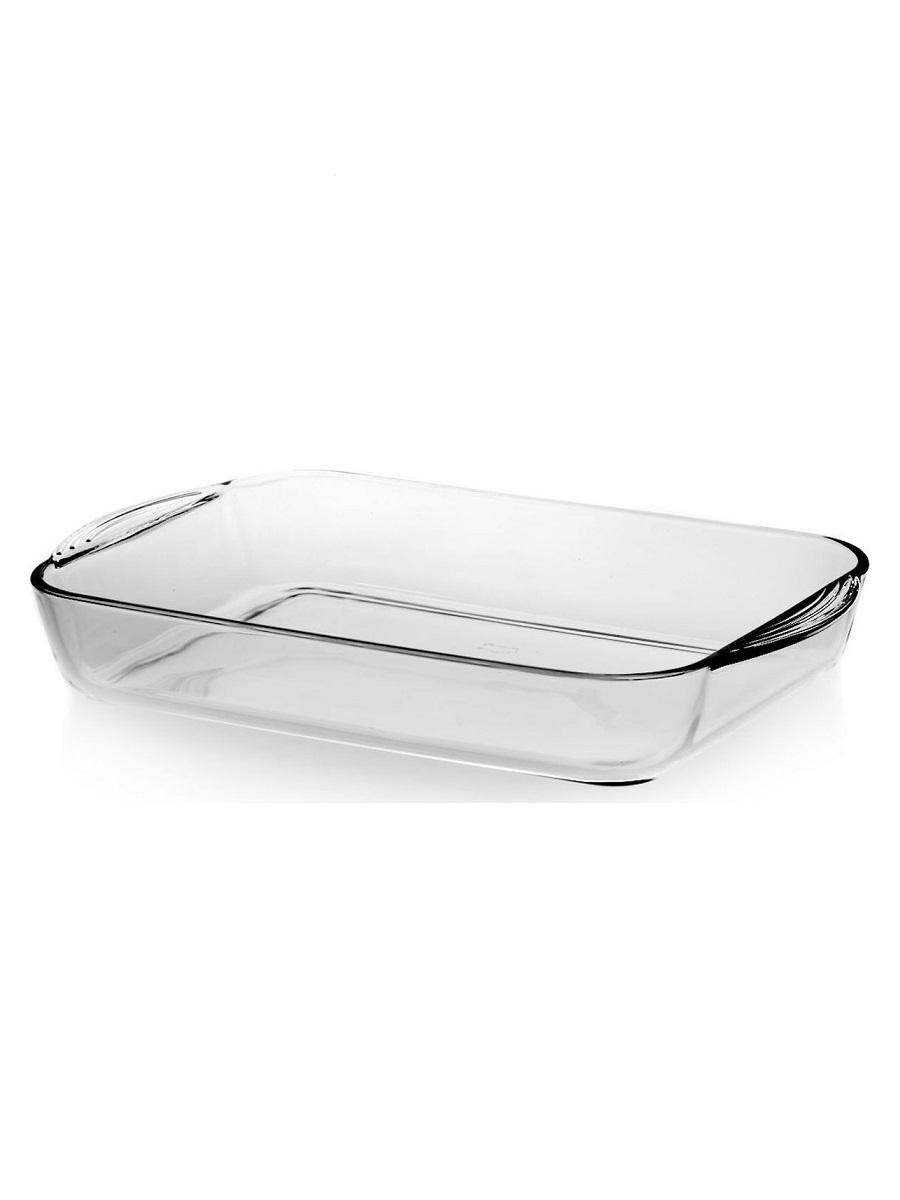 Форма для выпечки жаропрочная стеклянная прямоугольная 3,8 литра Borcam 59124 лоток прямоугольный 40х25х6 см