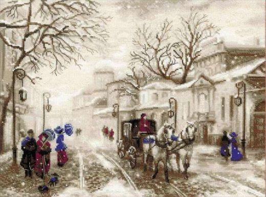 Набор для вышивания крестом Старая улочка № 1400 фирма Риолис