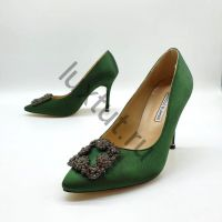 Женские туфли Маноло Бланик (Manolo Blahnik) зеленые купить в интернет магазине