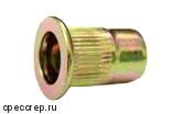 М8 заклепка резьбовая(гаечная),плоский фланец цилиндр цинк