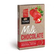 Молочный шоколад с Клубникой 90г