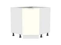 Шкаф нижний угловой (трапеция) Терра НУ890 (Ваниль софт)