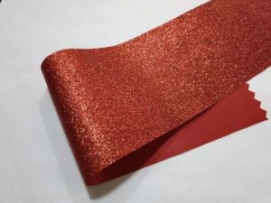 Глиттерная ткань (ткань с блёстками), красная
