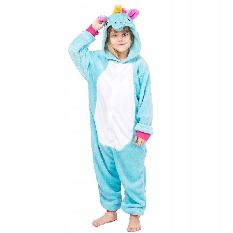 Детская Пижама Кигуруми Единорог Радужный Голубой