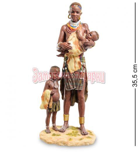 """WS-728 Статуэтка """"Африканка с детьми"""""""
