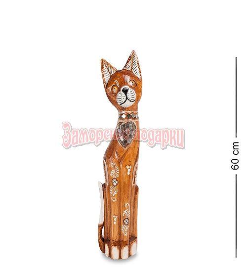 """99-132 Статуэтка """"Кошка"""" 60 см (албезия, о.Бали)"""