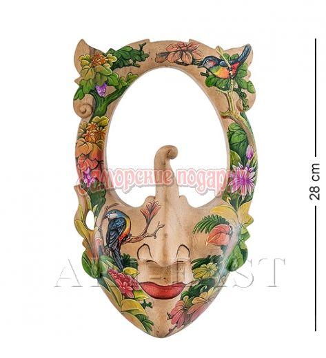"""44-007 Зеркало-маска расписная """"Тропический остров"""""""