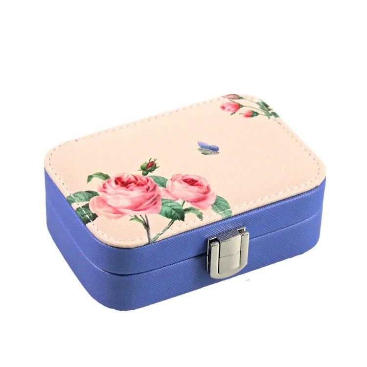 Шкатулка для украшений Цветы 15х11х5 см (цвет розовый)