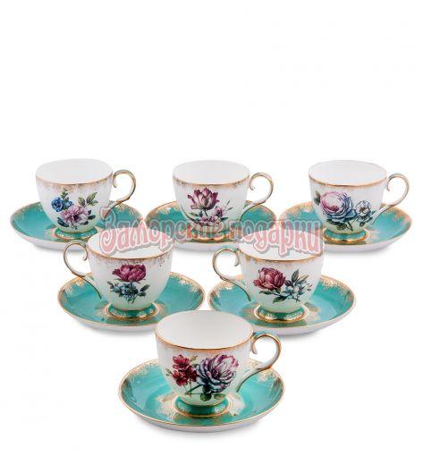 "JK- 21 Чайный набор на 6 перс.""Цветок Неаполя"" (Pavone)"