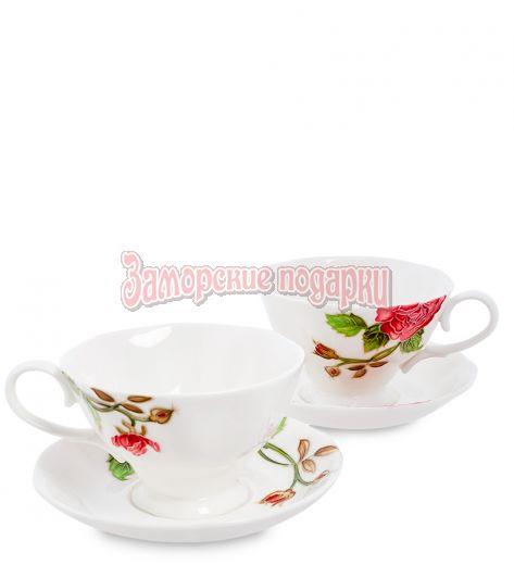 "JS-08 Чайный набор на 2 перс. ""Роза Рафаэлло"" (Pavone)"