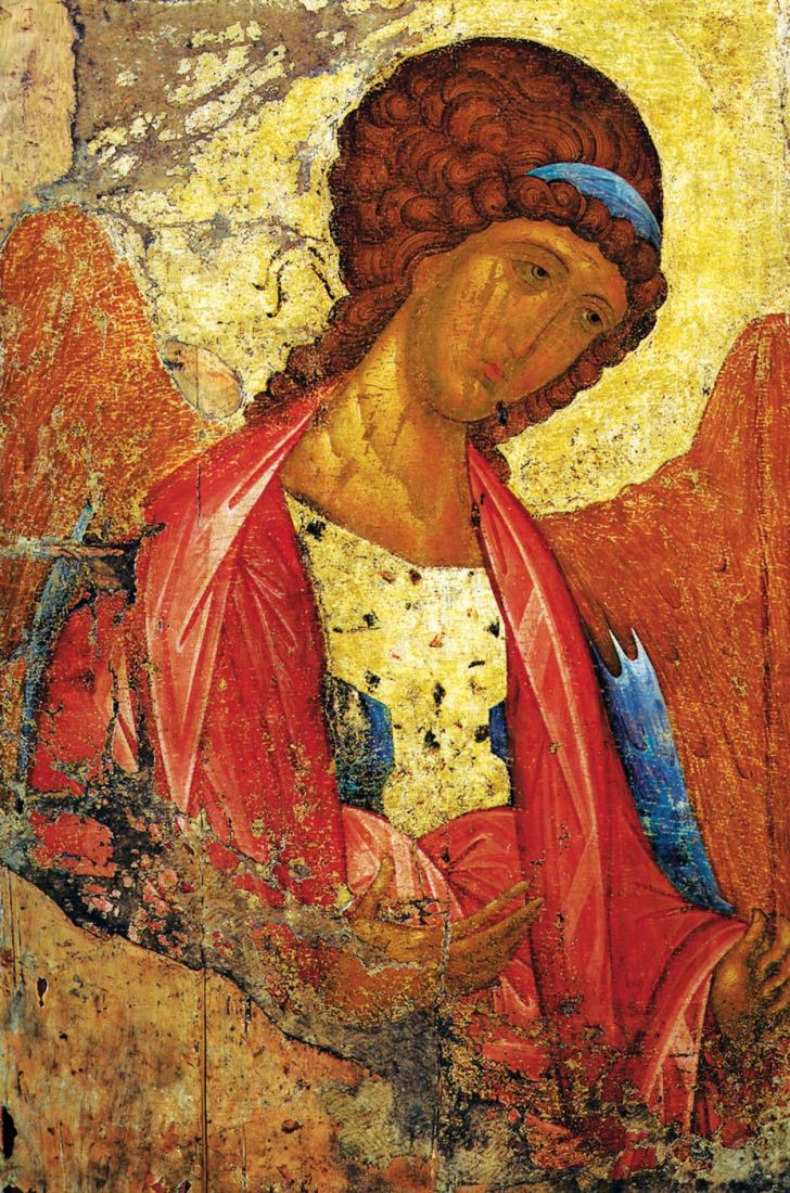 Икона Архангел Михаил 15 век (А. Рублев)