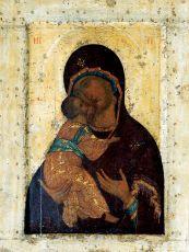 Икона Владимирская Божия Матерь (А. Рублев) 15 век