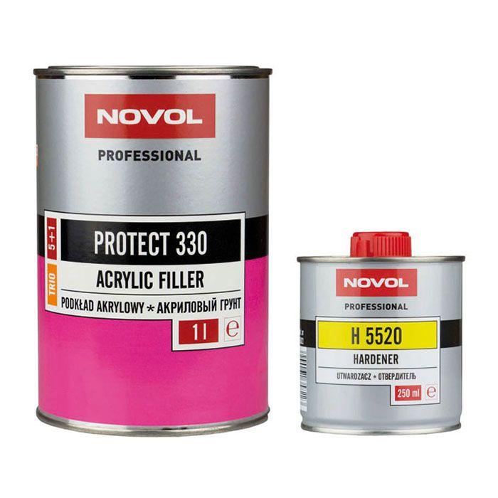 NOVOL Грунт 5+1 Протект 330 Трио серый (комплект), объем 1л. + 200мл.