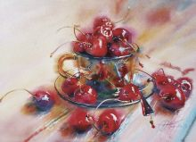 Postcard A handful of cherries