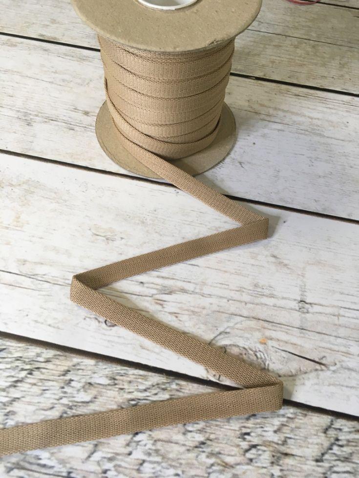 БЕЖ Шнур плоский шир. 12 мм