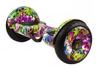 Гироскутер GT Smart Wheel 10,5 Самобаланс + App Граффити Сиреневый