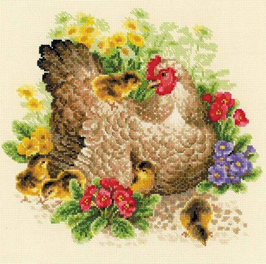 Набор для вышивания крестом Курица №1480 фирма Риолис