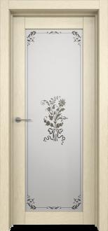 Межкомнатная дверь L 2 стекло Фрезия