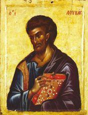 Икона Лука апостол (Византия 14 век)