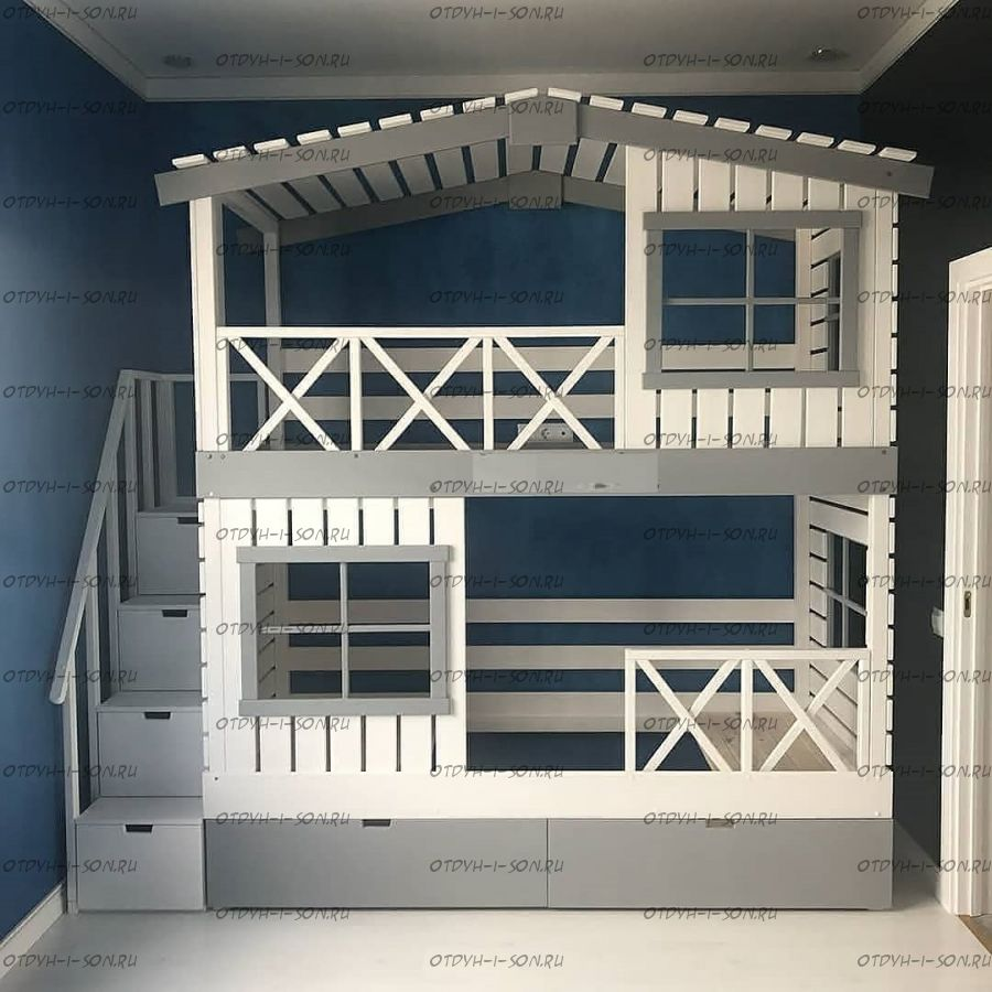 Кровать двухъярусная Домик Roof №20