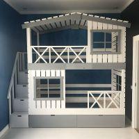Кровать двухъярусная Домик Factory №20